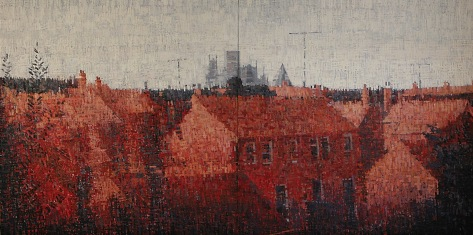 Jake Attree's 'Extensive View of Yorkl', 12'x6', 2006