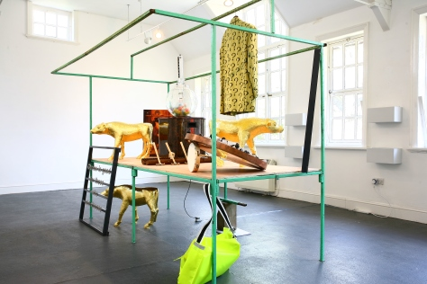 Installation shot of John Newling's Stall of Gathered Economies, curated by Jackson and Teed