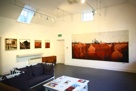 Installation shot of Jake Attree exhibition, curated by Jackson and Teed